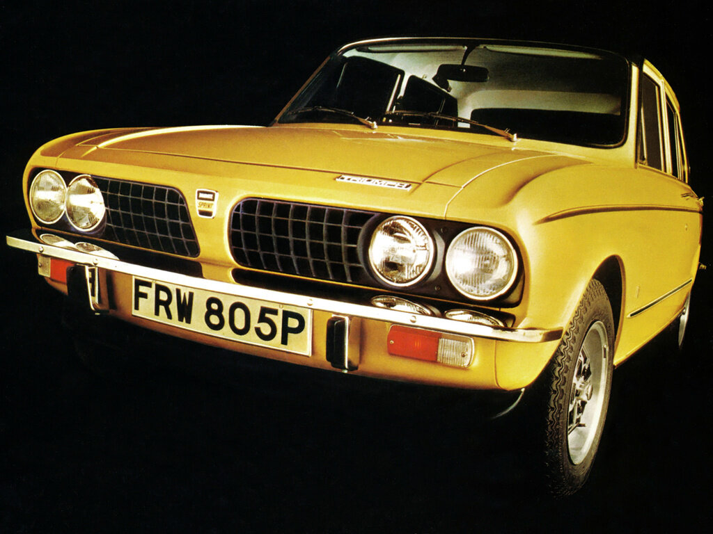 Bold frontal styling by Michelotti shared with the Dolomite 1850HL