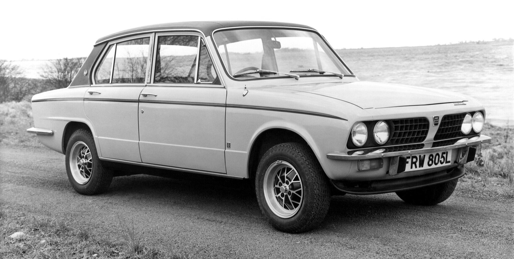 Alloy wheels and a discrete chin spoiler make the Dolomite Sprint an agreeable-looking performance saloon