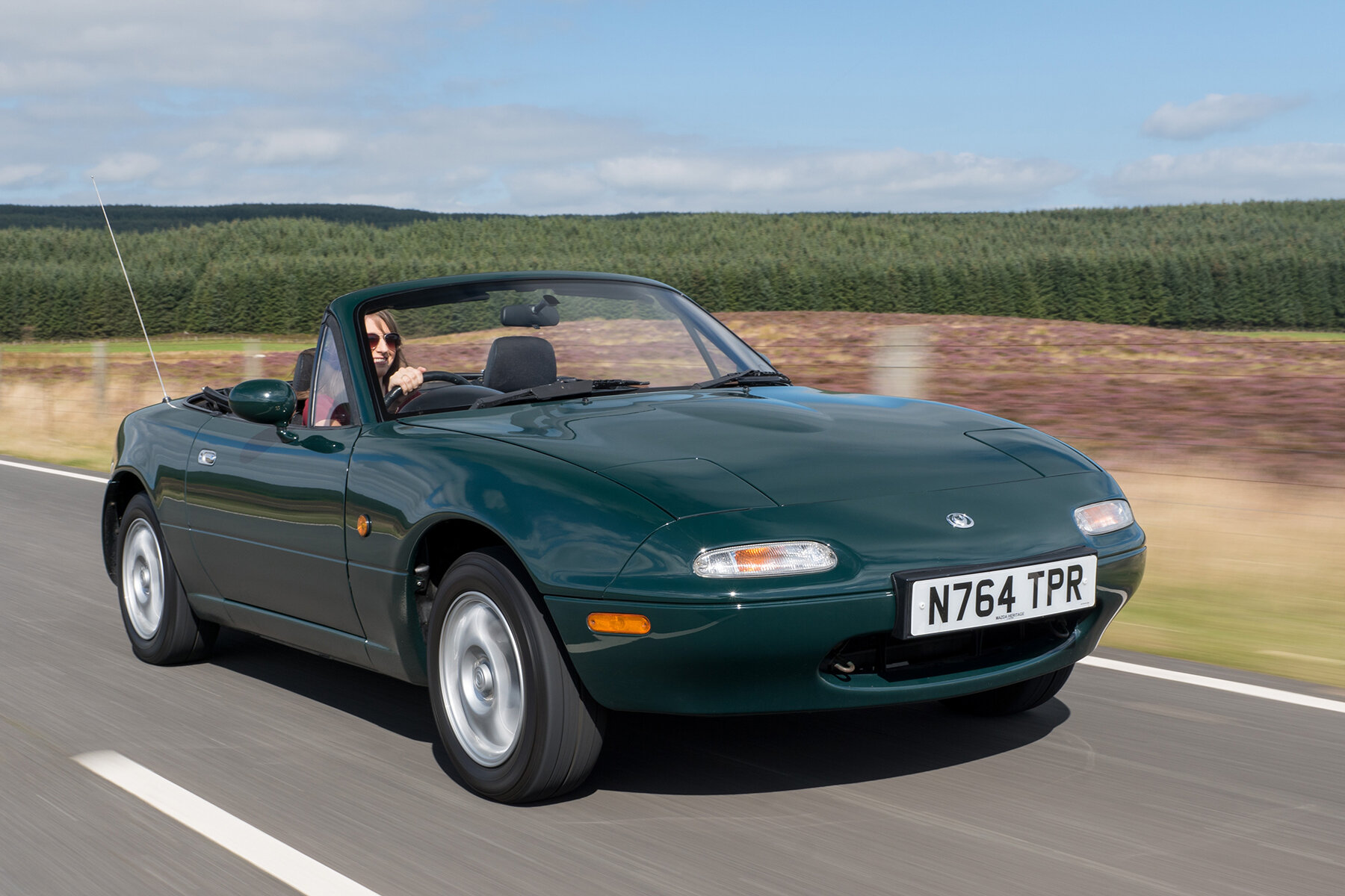 Roof down, open roads, living the Mazda MX-5 dream