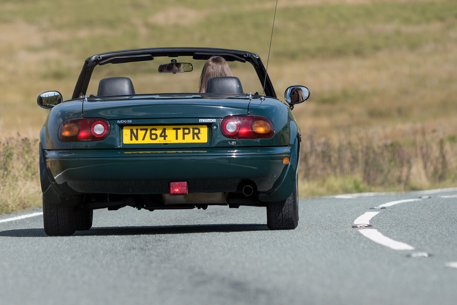 The view most people will see of a rapidly-driven MX-5 on a B-road
