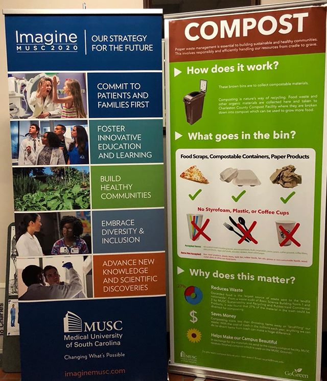 We love being a part of @muscgogreen initiative to make sure all of the compostables get to the right place!  We also love seeing signs like this around the medical campus!  Thanks for being such great partners in sustainability! 🌱🌎 ♻️