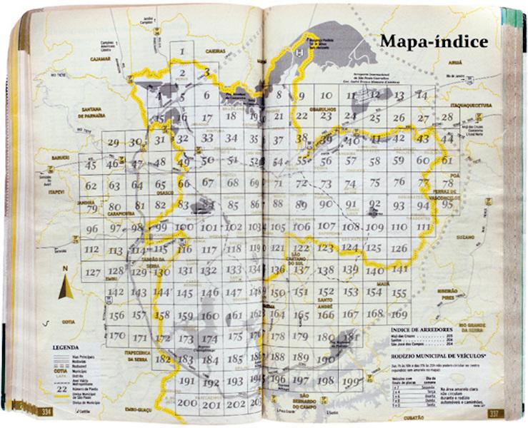 Tuca Vieira, Atlas Photographic, Mapa-index, 2016, Photo Courtesy The Artist
