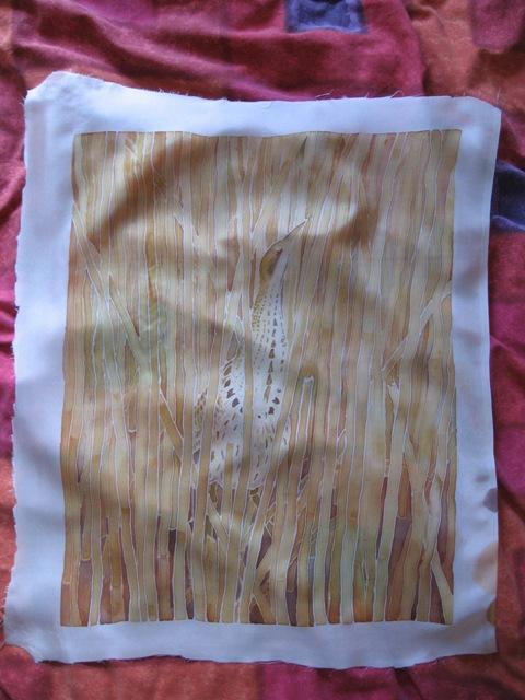 Washed silk
