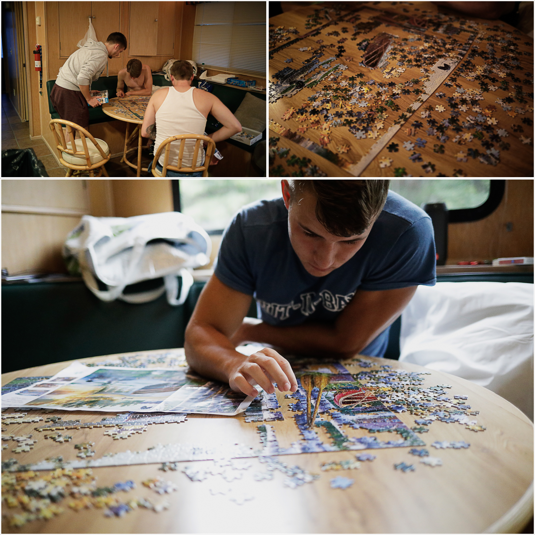 Putting puzzles together on the houseboat | Our Dale Hallow House Boat Adventure | J.B. TOLS
