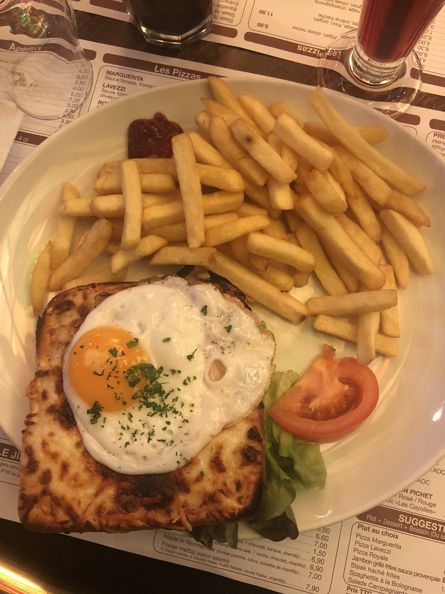 """This was a type of grilled cheese with an egg. It wasn't as """"French"""" as I had hoped to get, but I had to compromise."""