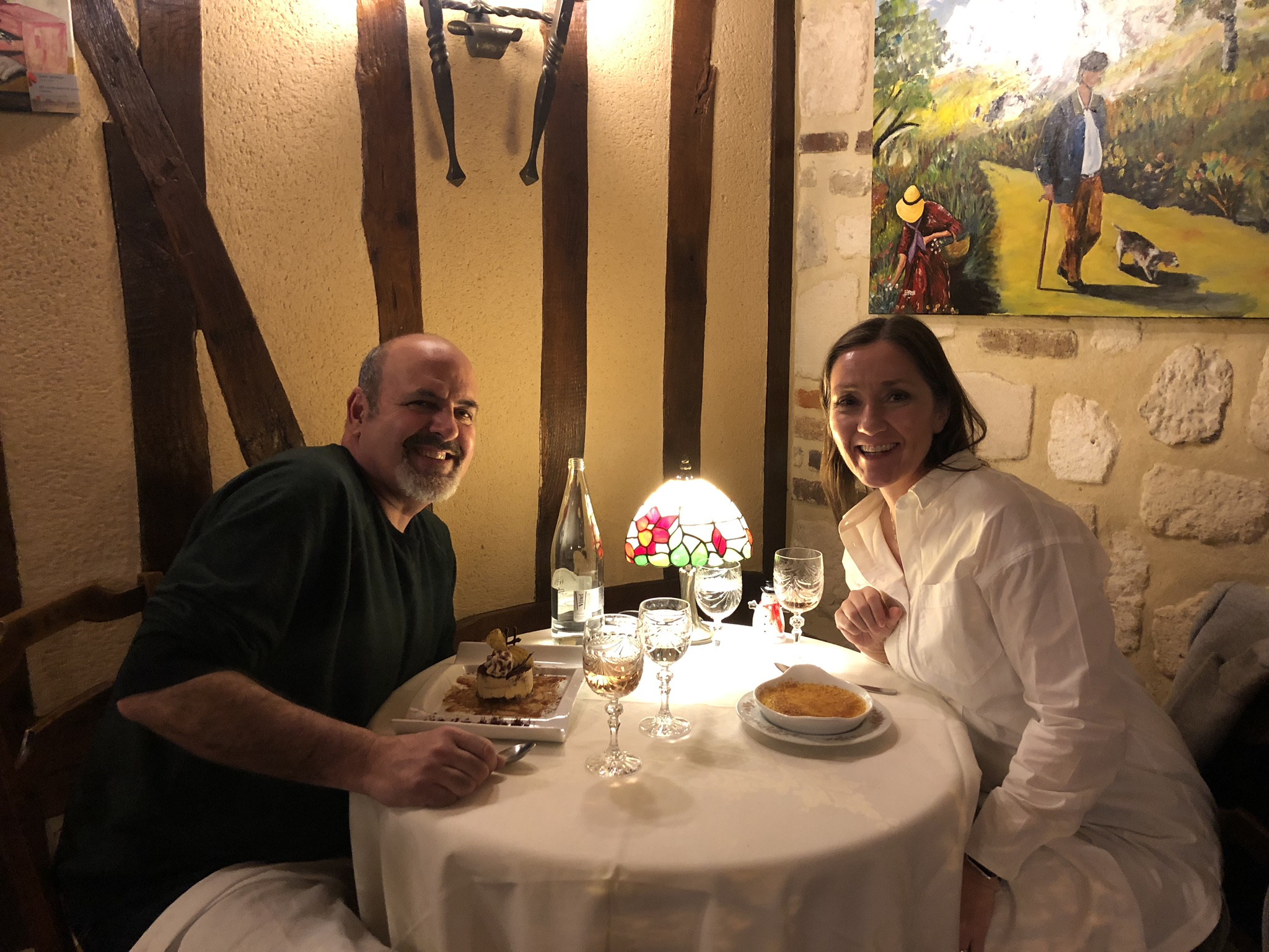 Our last night dining out and he finally ate some authentic French cuisine with me.