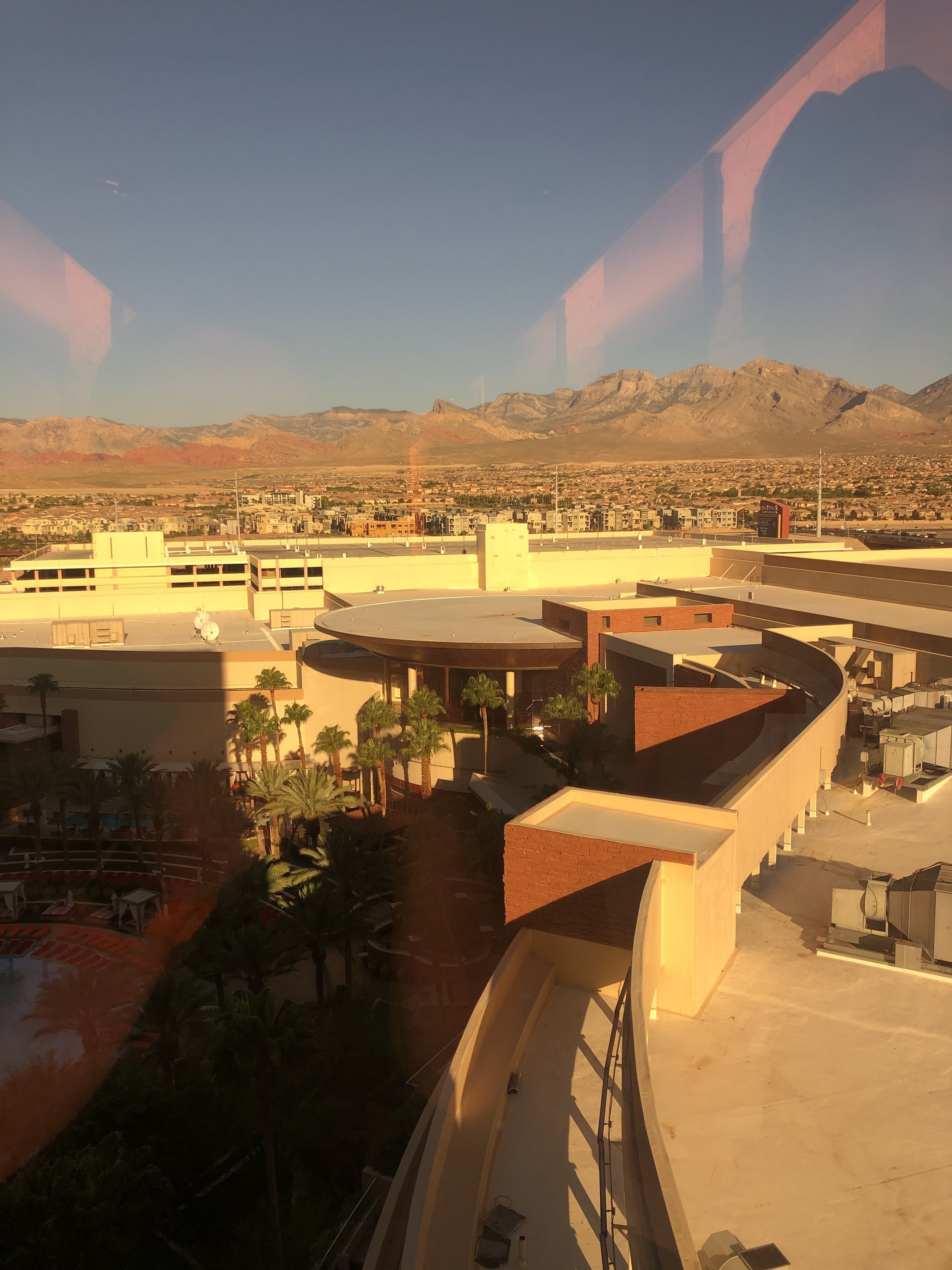 View out the window of the Red Rock Resort and Casino