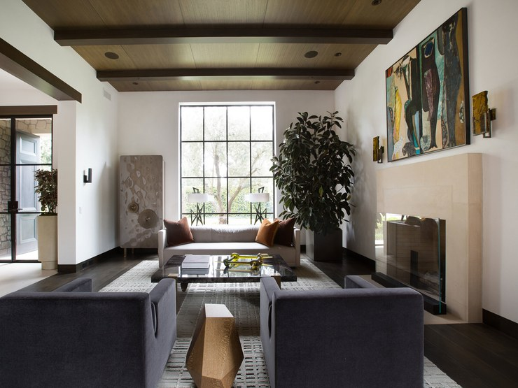 PRIVATE RESIDENCE  BRENTWOOD, CA  ARTIST: STANLEY BOXER