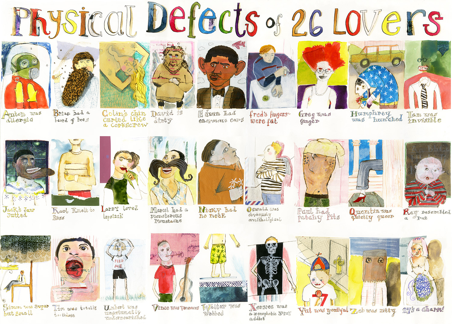 Physical Defects of 26 Lovers