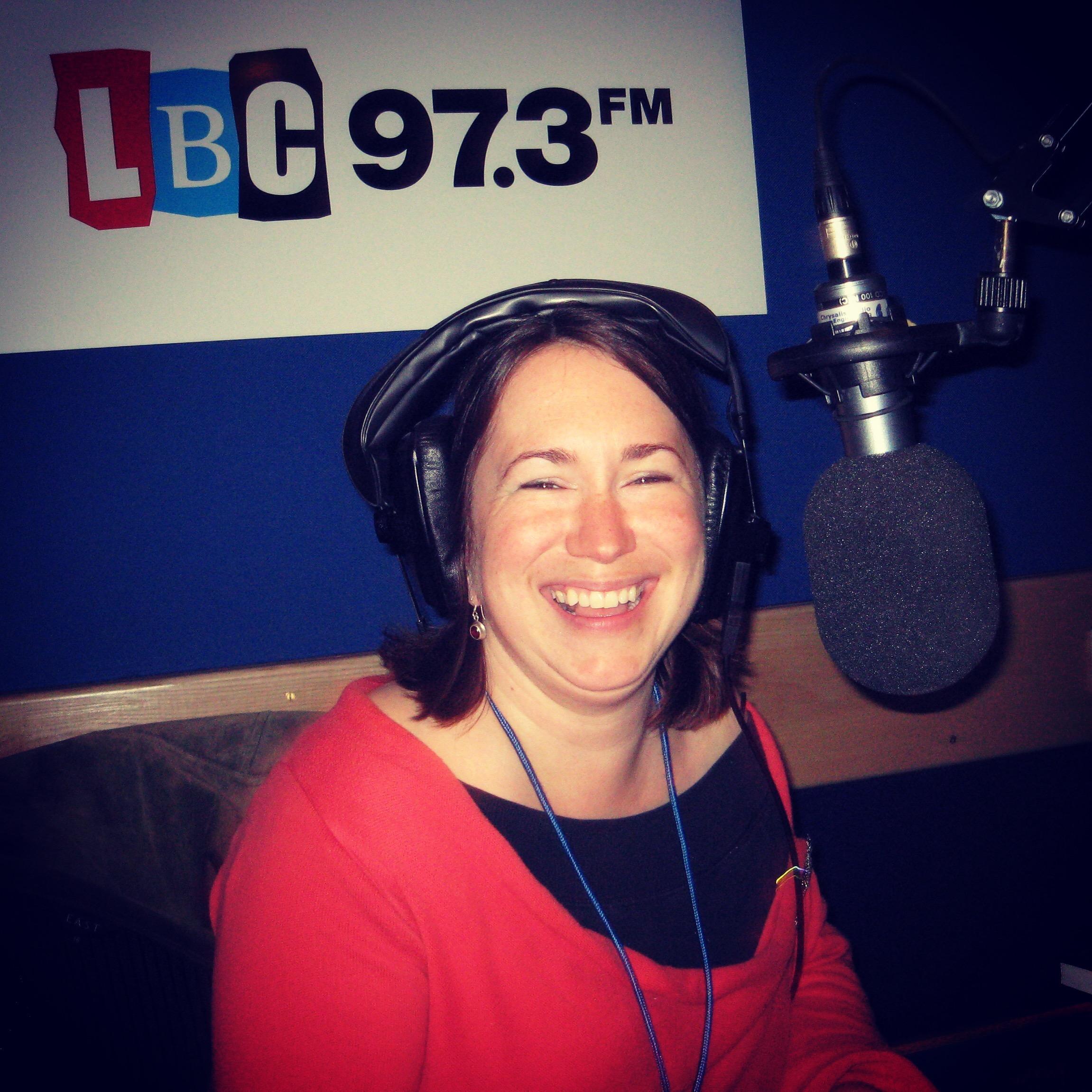 Becky in the LBC studio