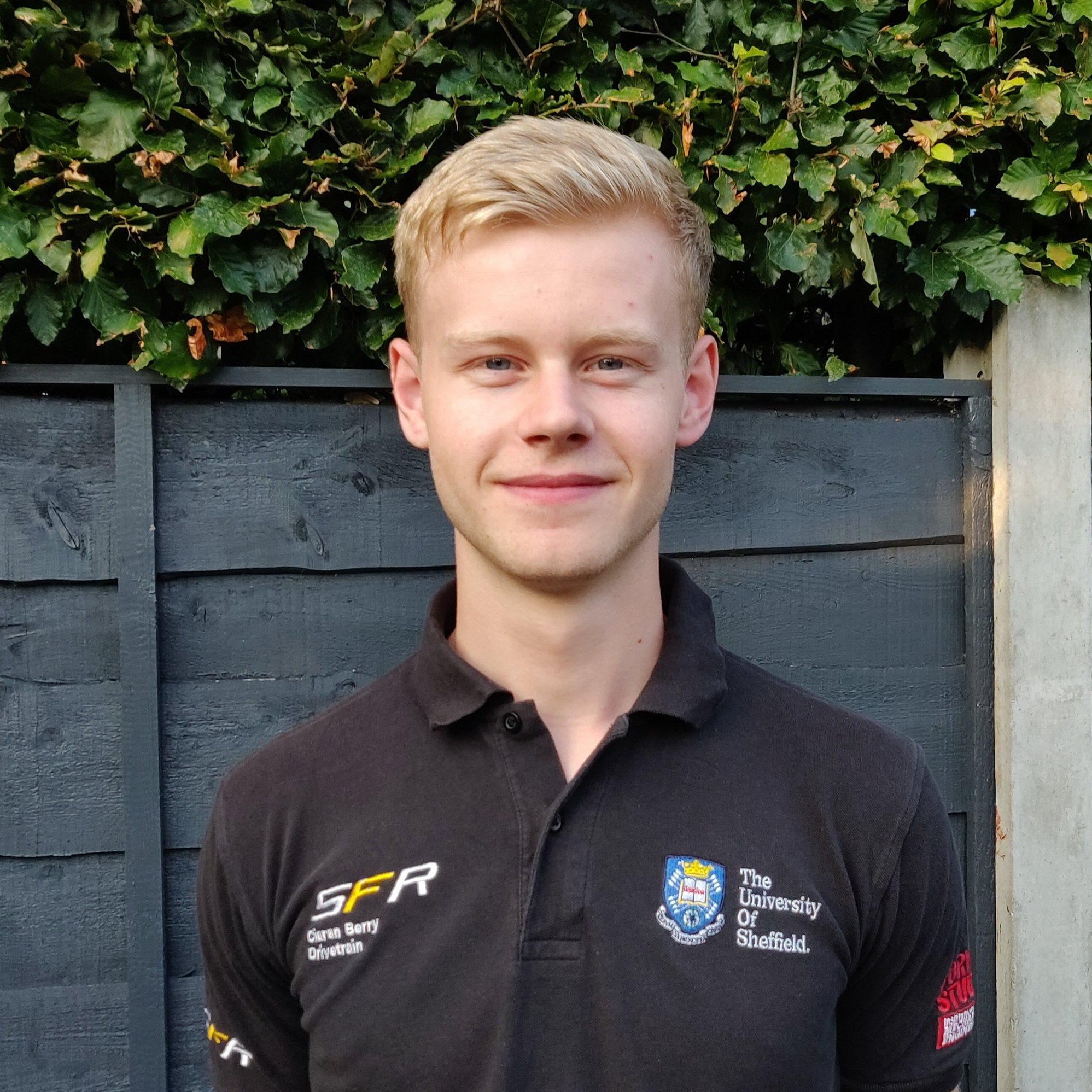 ciaran berry  powertrain team leader  Year: 3  Course: Mechanical engineering