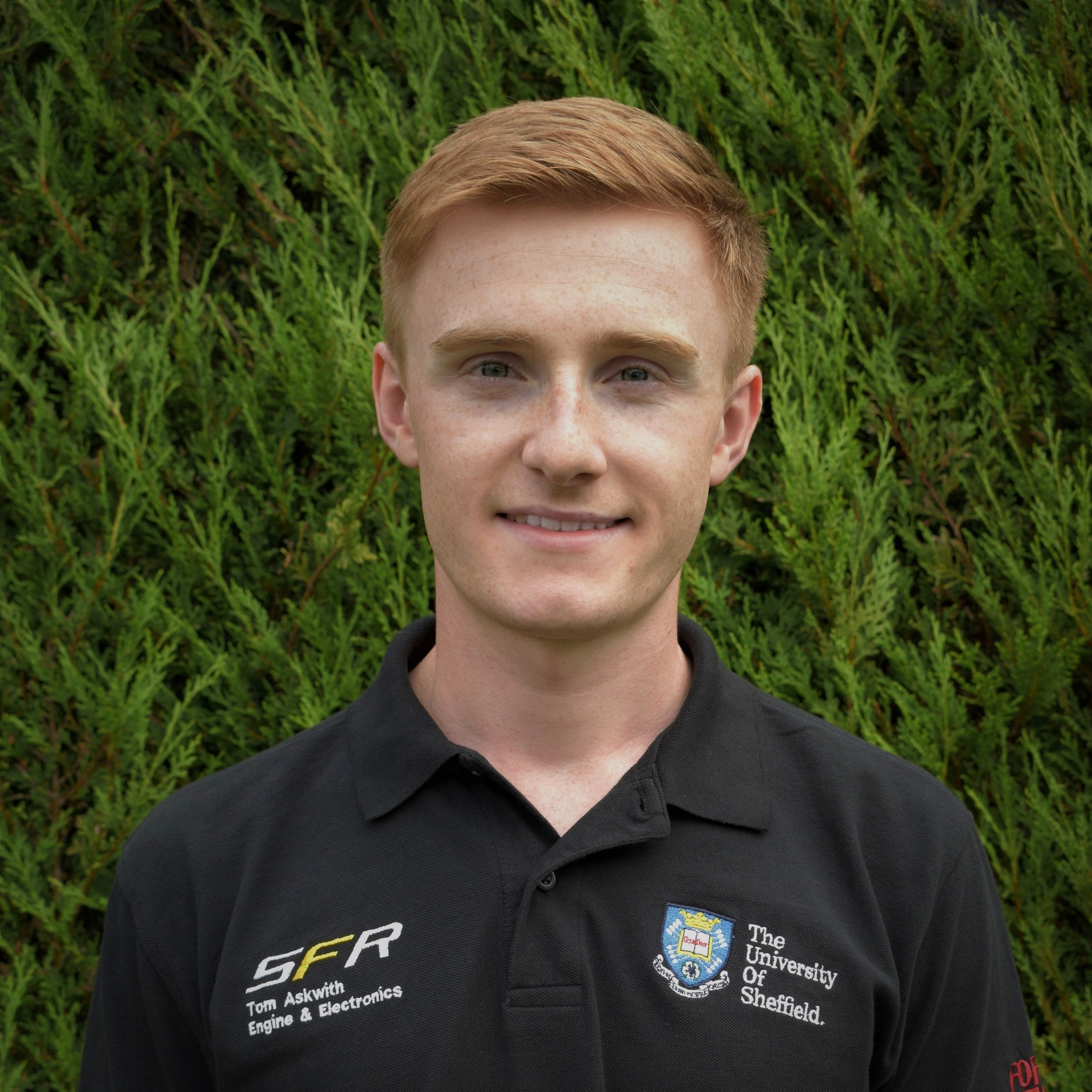 "tom askwith  year: placement at mercedes amg hpp  Course: mechanical engineering  ""During my time on the team I have been part of both the Chassis & Vehicle Dynamics and Engine & Electronics teams, designing a quick-jack system, the chassis and most recently, the air intake system.  This year I will be on a Year in Industry at Mercedes AMG High Performance Powertrains, designing and testing the engines for the Mercedes powered Formula 1 cars, as well as some other very exciting projects.  In my spare time you'll find me out in the Peak District, riding mountain and road bikes, or playing guitar in a band in one of Sheffield's many pubs."""