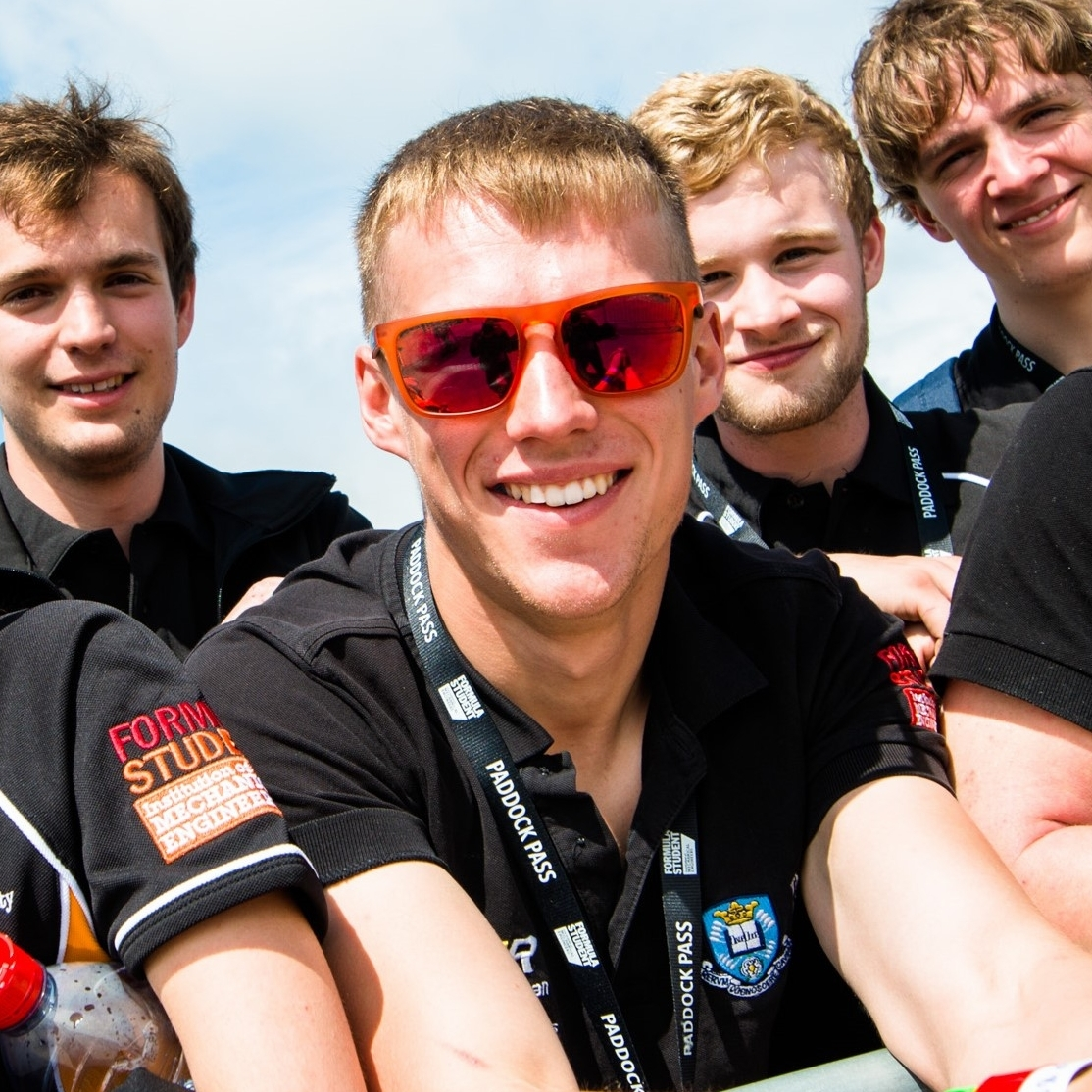 "robert newman  team principle  year: 5  Course: aerospace engineering  ""I've been interested in cars and racing since I can remember. I starting karting when I was 8 and haven't done anything else since. I think Steve McQueen put it best ""Racing is life. Everything in between is just waiting."". Since joining the formula student team it's made the waiting quite a bit more enjoyable."""