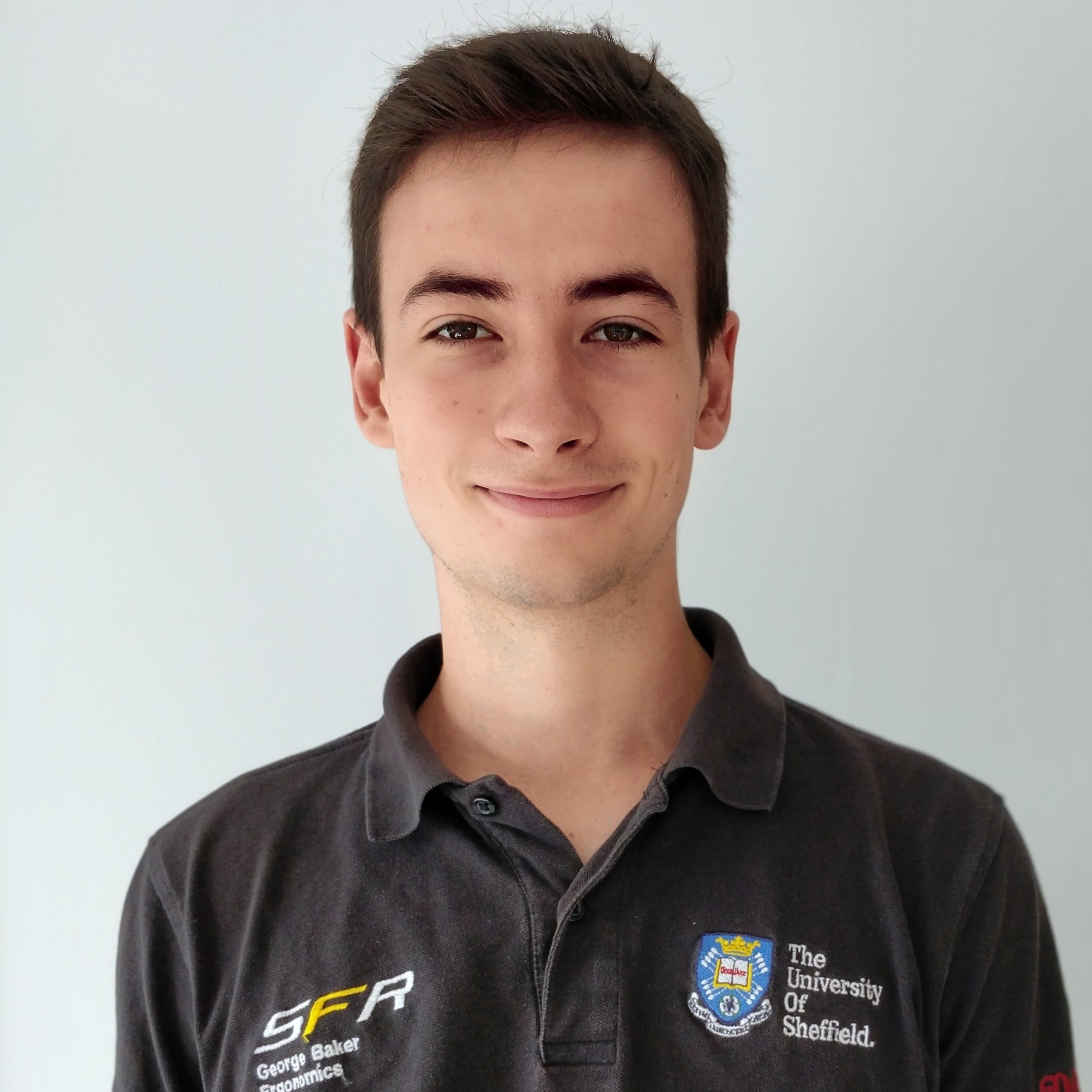"george baker  year: 3  course: mechanical engineering  ""During my two years on the team I have been involved in the bodywork and ergonomics team, designing the firewall and manufacturing other composite parts for the car."""