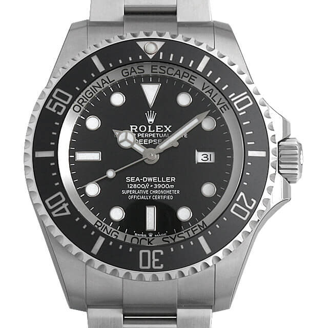 Rolex Deepsea Black Dial 44mm Ceramic Steel Sea Dweller 126660