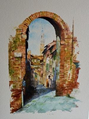 SIENA - Watercolour (16 x 12)