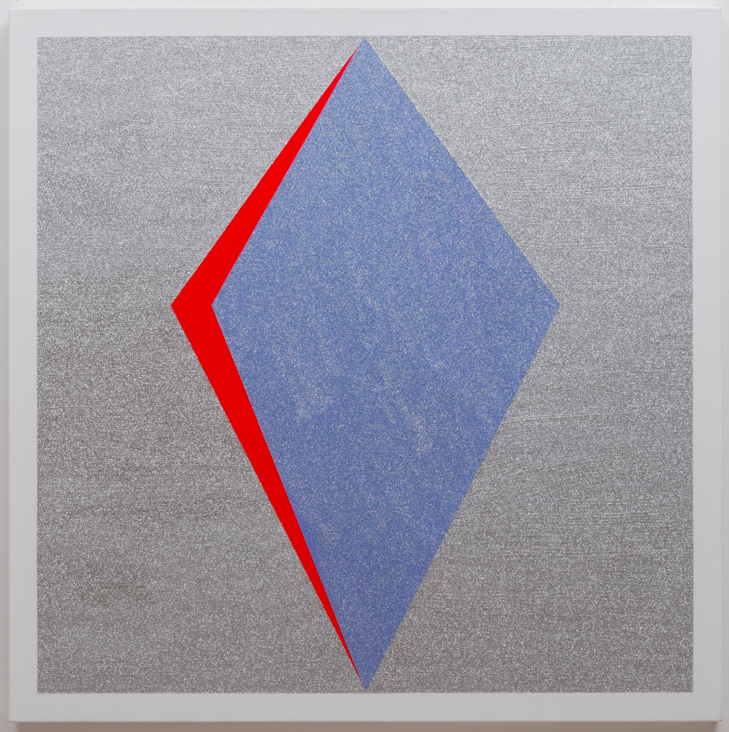 Kelly Brumfield-Woods,  Red Silver #1  (2014), Acrylic and glitter on canvas, 36 x 36 inches