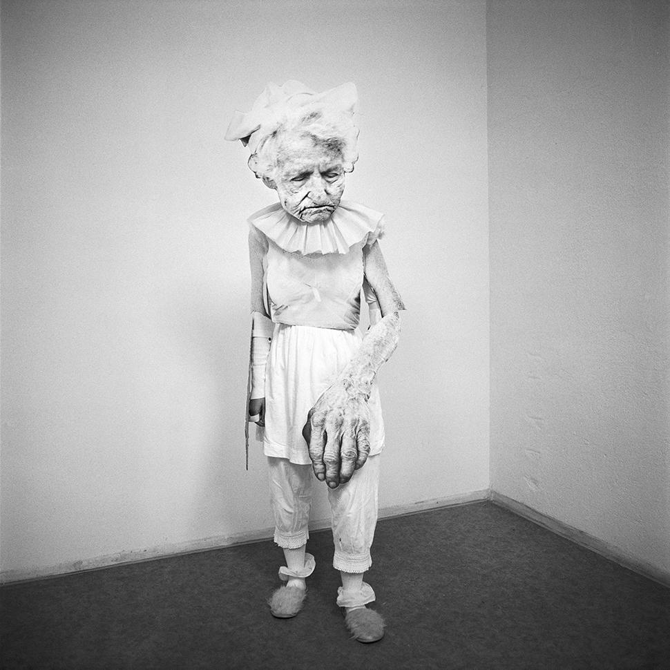 Jenny Fine,  Flat Granny  (2010), performance still, Dresden, Germany, 20 x 20 pigment print