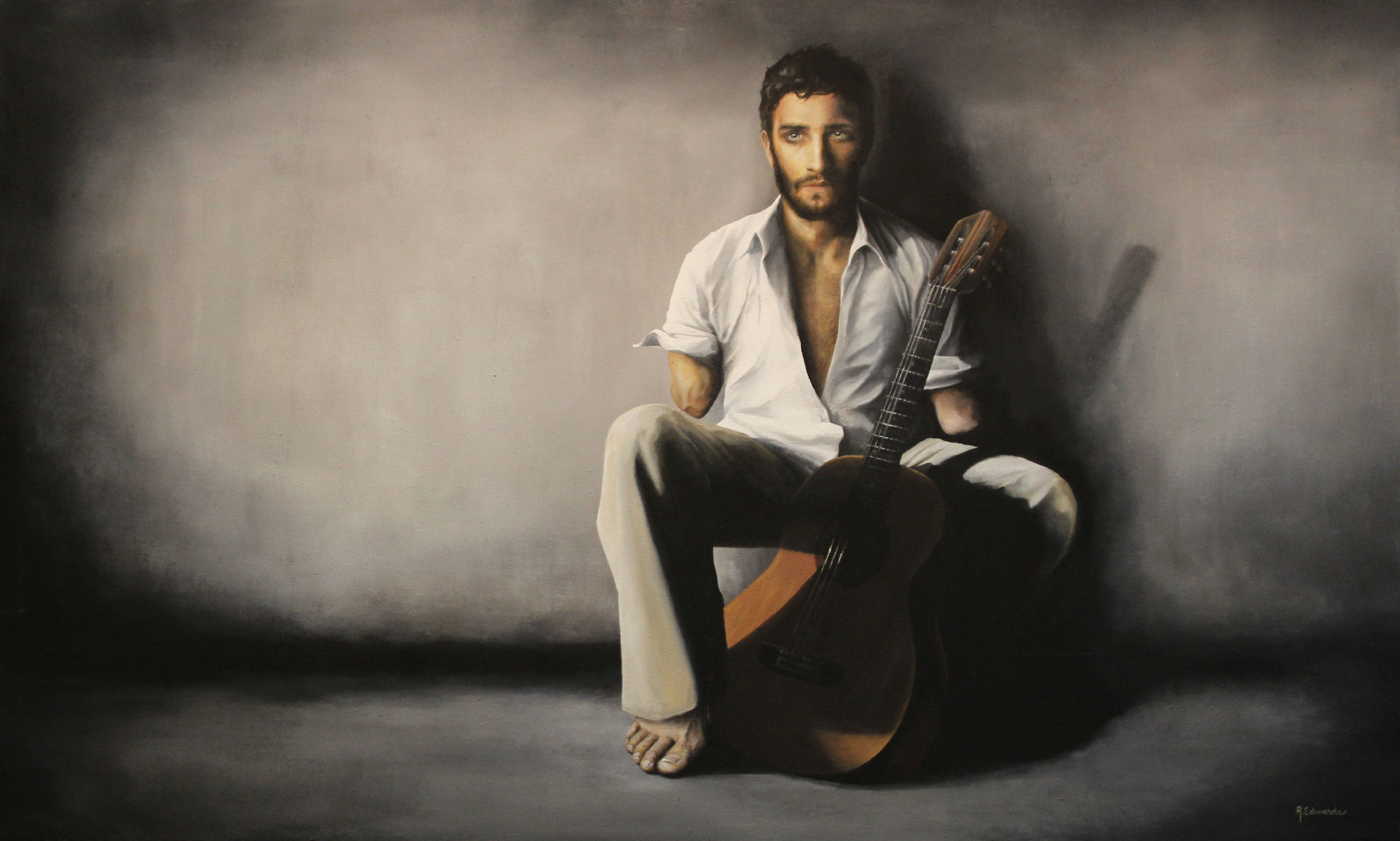 Rachael Edwards,  Art of War , acrylic on canvas