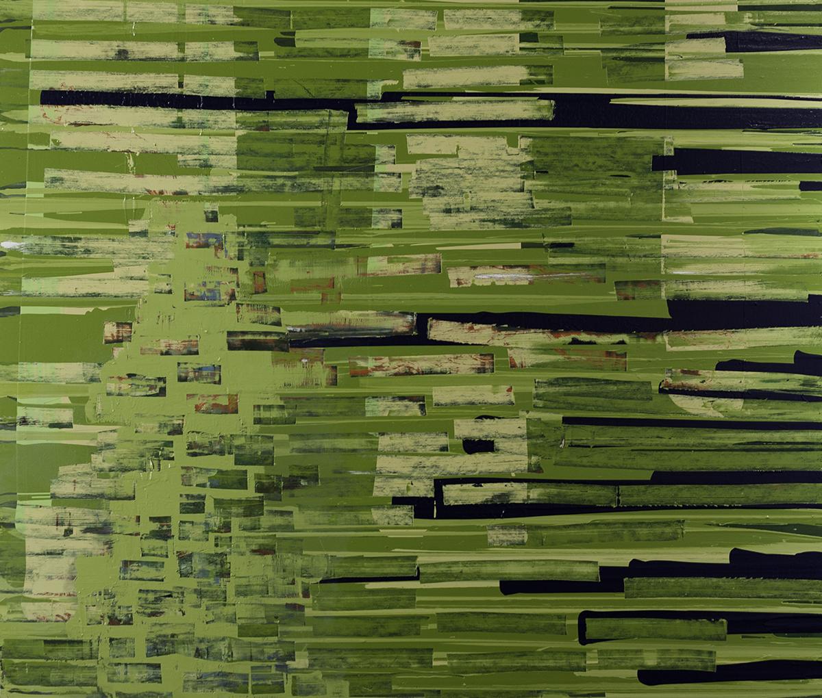 James Behan,  Leeward , oil and enamel on canvas, 6 x 7 feet