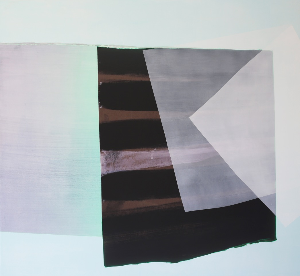 Kate Petley,  This Pale Afternoon , Archival ink and acrylic on canvas, 48 x 52 inches