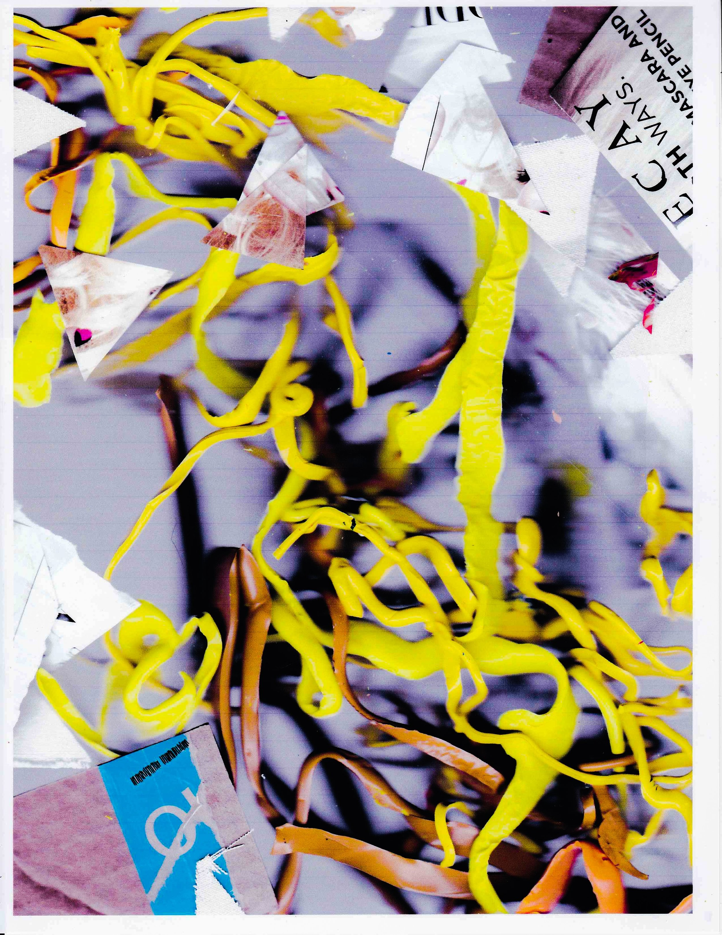 Liz Trosper,  Blonde Ambition , UV vinyl ink on canvas, unique, 96 x 74 inches