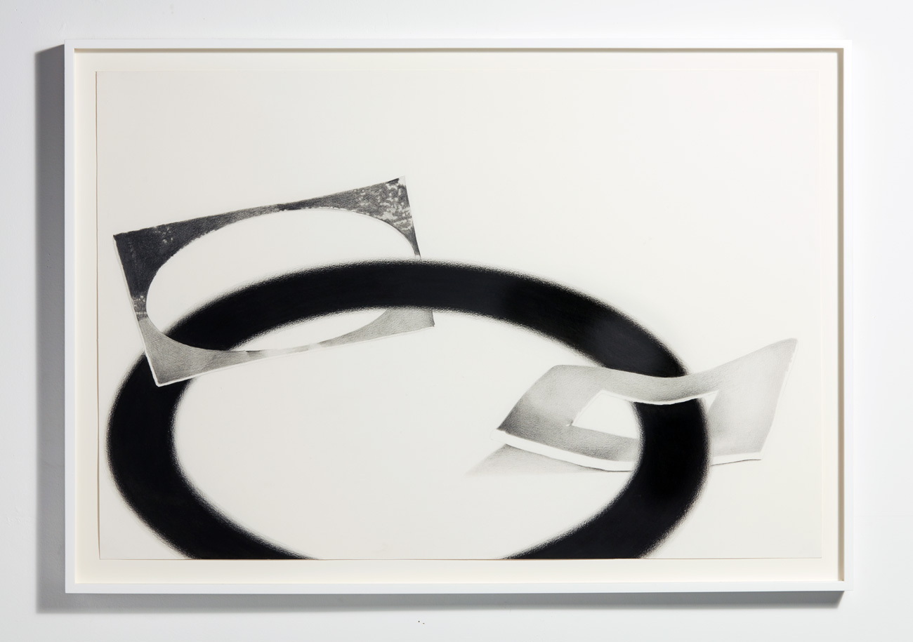 Sydney Croskery, 3 Holes (I used to not, we change hours ago the focuses),  graphite and charcoal on paper,20 x 30 inches