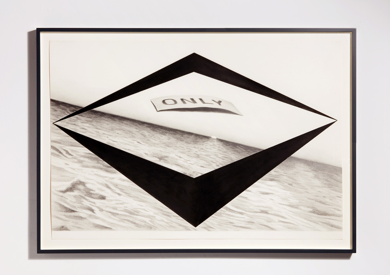 Cantaloupe Skies (life before mysteries, that's who looks out to see), g raphite and charcoal on paper,20 x 30 inches