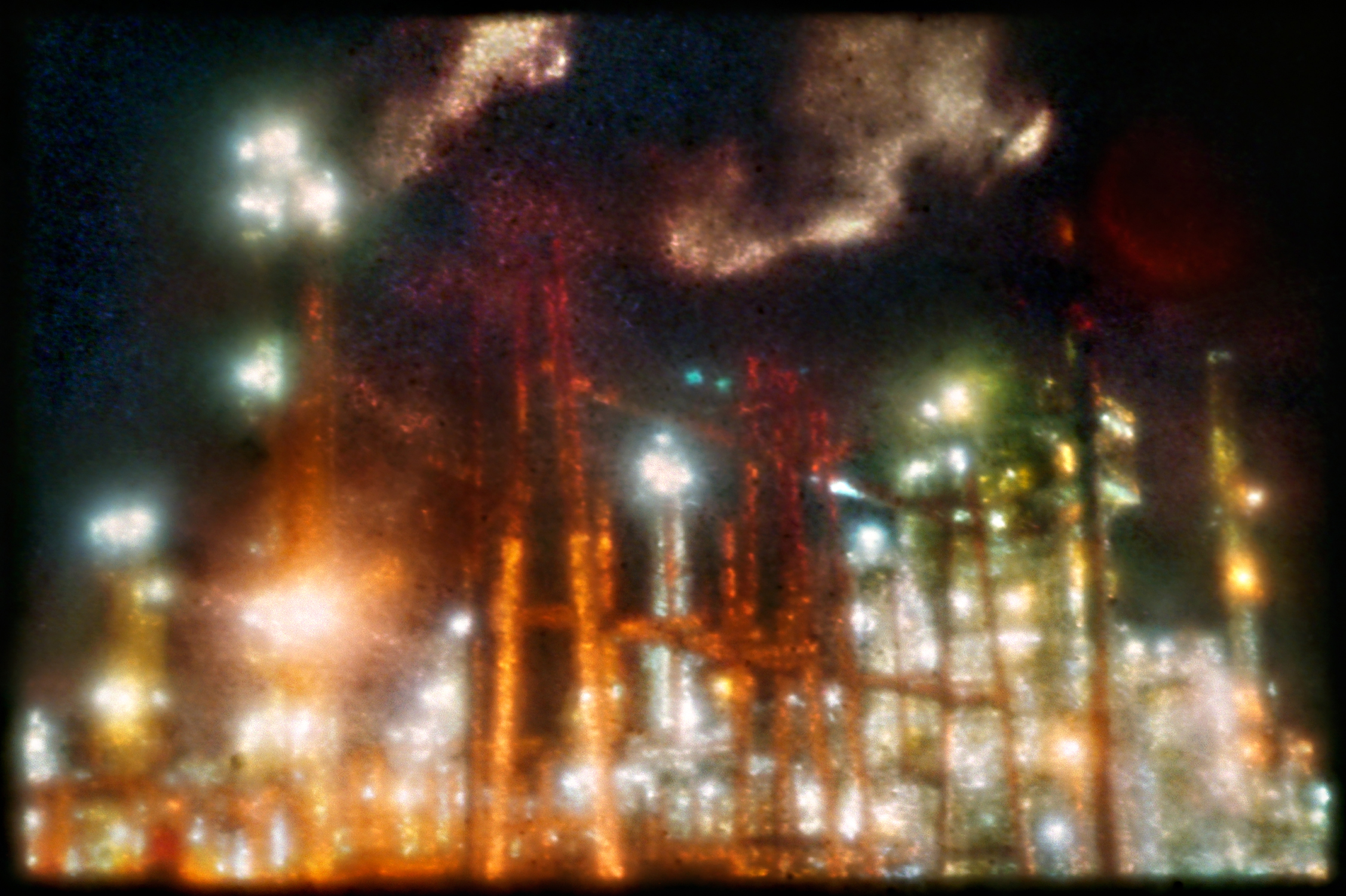 """30°28'28.73""""N, 91°12'40.55""""W (Port Allen) , archival pigment print from color negative taken with afterimage camera, 29 x 43 inches"""