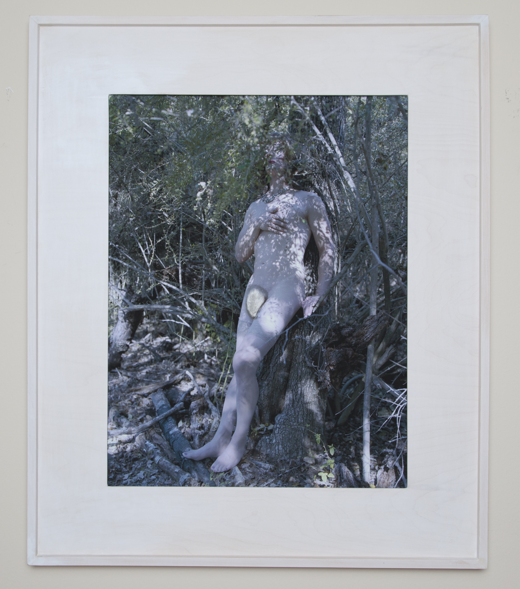 Bohus Blauhut ,unique distressed archival inkjet print in custom maple frame,48 x 40 inches, 2016