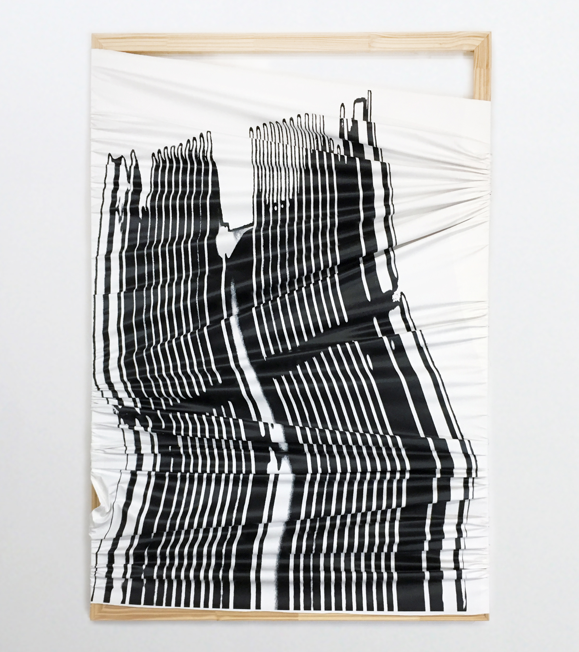 Duel Action , UV ink on canvas, 72 x 48 inches, 2016
