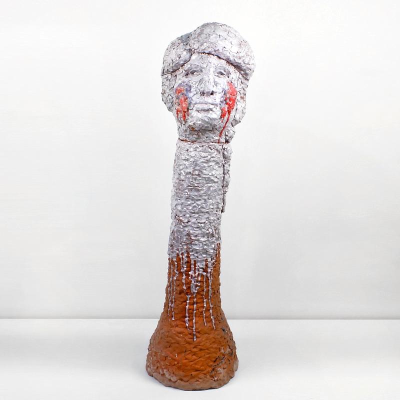 Neesh Blushes For Her Portrait , 2017, Earthenware ceramic