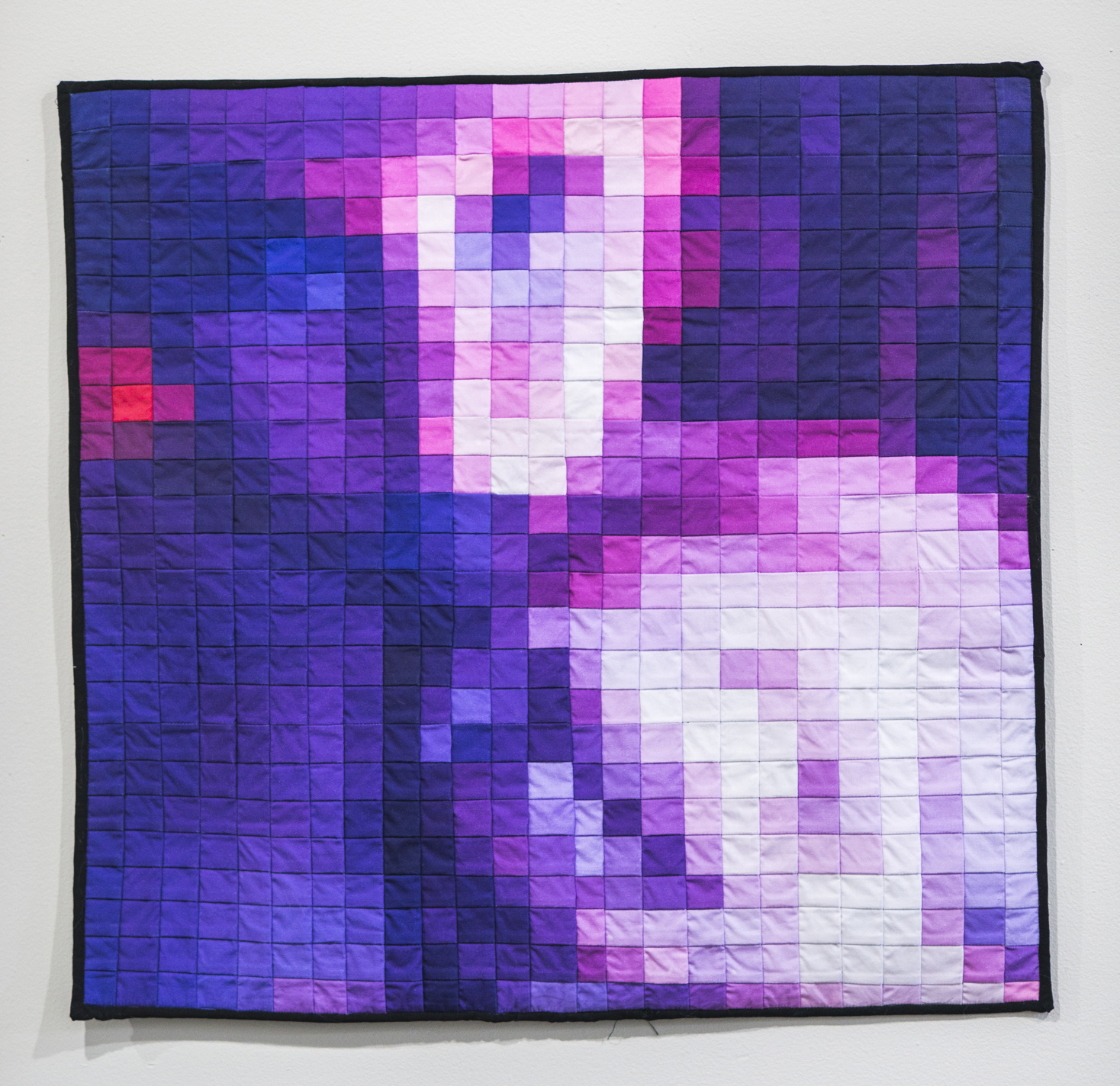 tit or fist (pixel quilts) ,Inkjet print on cotton, thread, 20 x 20 inches, 2016