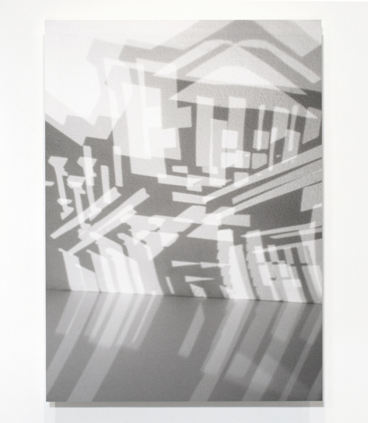 63 Girard (Exterior Shadow I) , 2017, Photograph on hot press paper mounted on Plexiglas, 42 x 55 inches