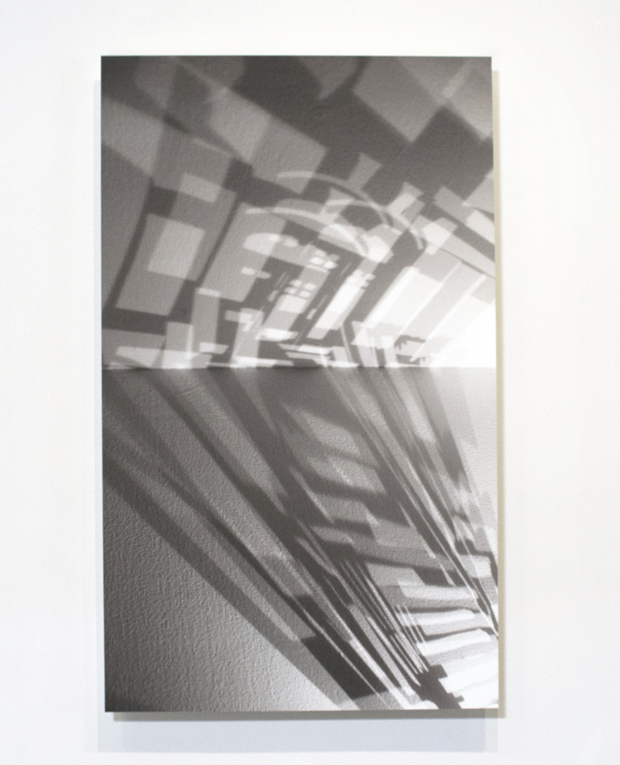 159 W 87th (Exterior Shadow I) , 2017, Photograph on hot press paper mounted on Plexiglas, 36 x 55 inches