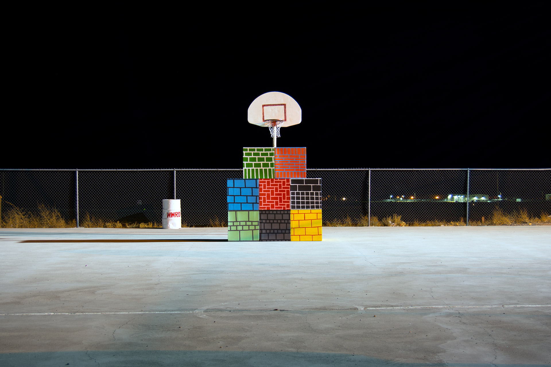 Ball Wall , color photograph, 23 x 40 inches