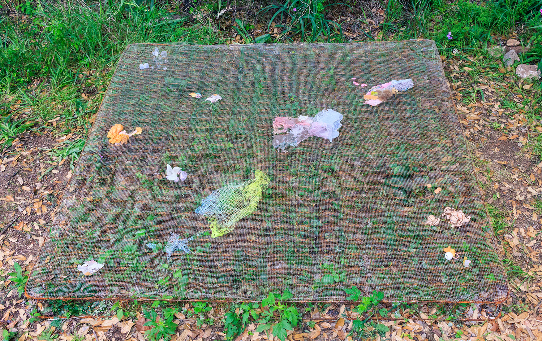Twilight Sleep , found objects on mattress spring, 2017