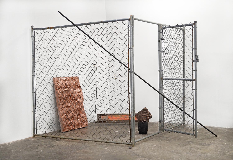 Calore Senza Corpo : Bodiless Heat  , steel, running heater, machined EPS, cast bronze,6.5' x 8' x 8',2017