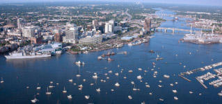 City view of #NorfolkVA.