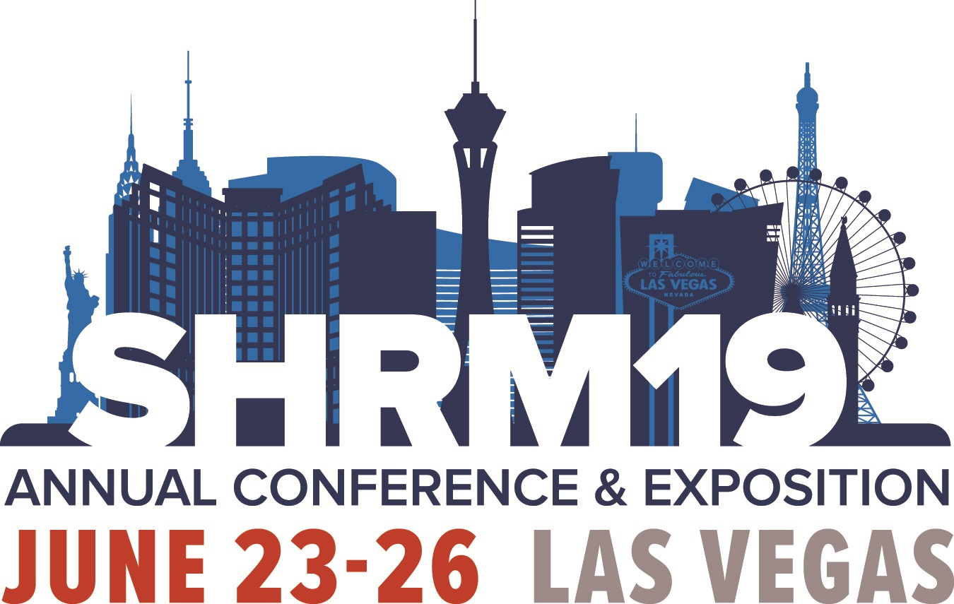 SHRM19 logo design courtesy of @SHRM.