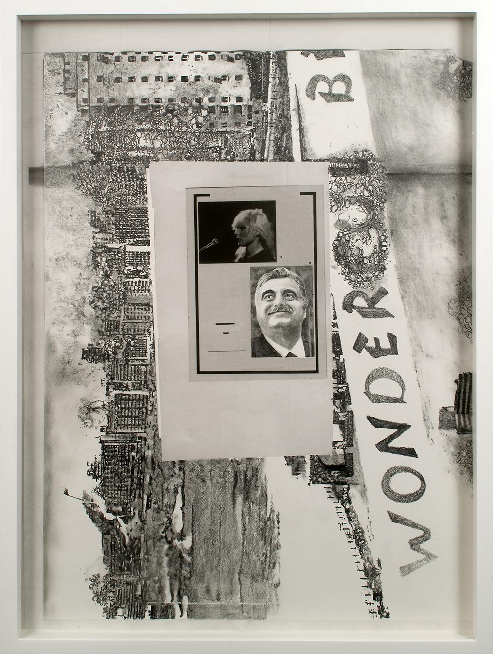 """no.17- Untitled (Rafik Hariri) pencil on paper, ink jet print, 21""""x28""""/ 53cmx71cm,             2007/08"""