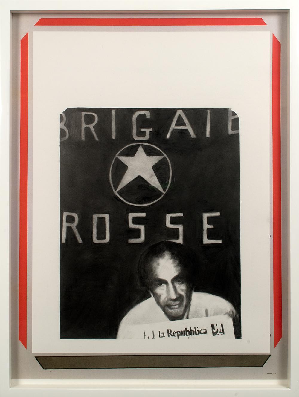 "no.19- Untitled (Aldo Moro) pencil on paper, ink jet print, 21""x28""/ 53cmx71cm,            2007/08"