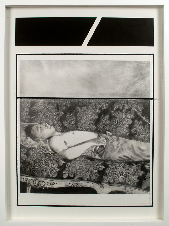 "no.20- Untitled (Engelbert Dollfuss) pencil, tempera on paper, ink jet print, 21""x28""/             53cmx71cm, 2007/08"