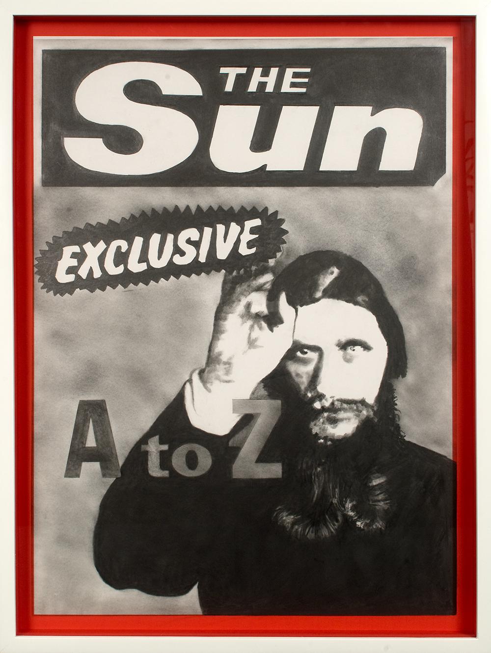 "no.21- Untitled (Grigori Rasputin) pencil on paper, ink jet print, 21""x28""/ 53cmx71cm,            2007/08"