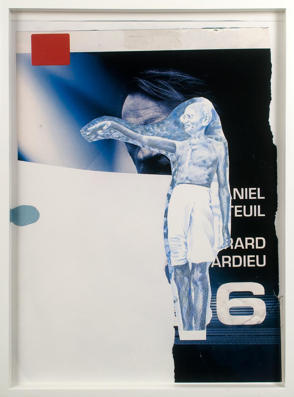 "no.22- Untitled (Gandhi) pencil on paper, ink jet print, 21""x28""/ 53cmx71cm, 2007/08"