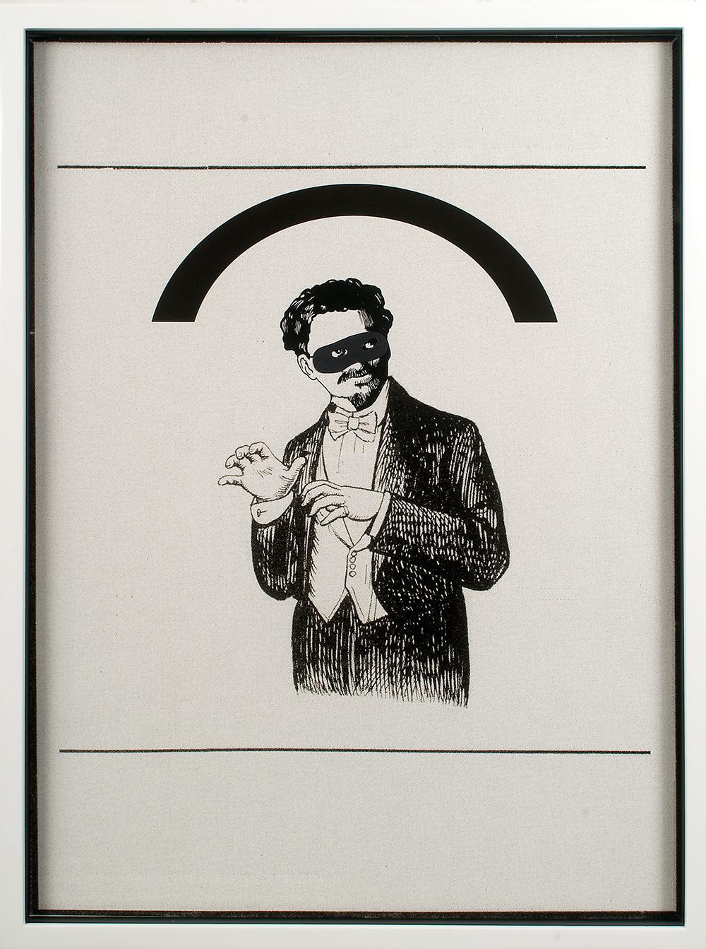 "no.23- Untitled (Leon Trotsky)  ink on paper, ink jet print, 21""x28""/ 53cmx71cm,               2007/08"