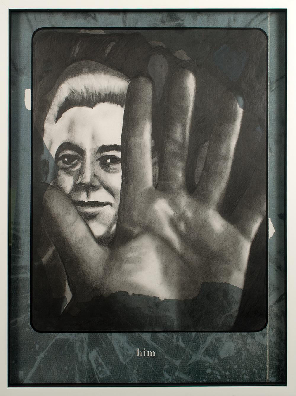 """no.29- Untitled (Julien Lahaut) pencil on paper, ink jet print, 21""""x28""""/ 53cmx71cm,            2007/08"""