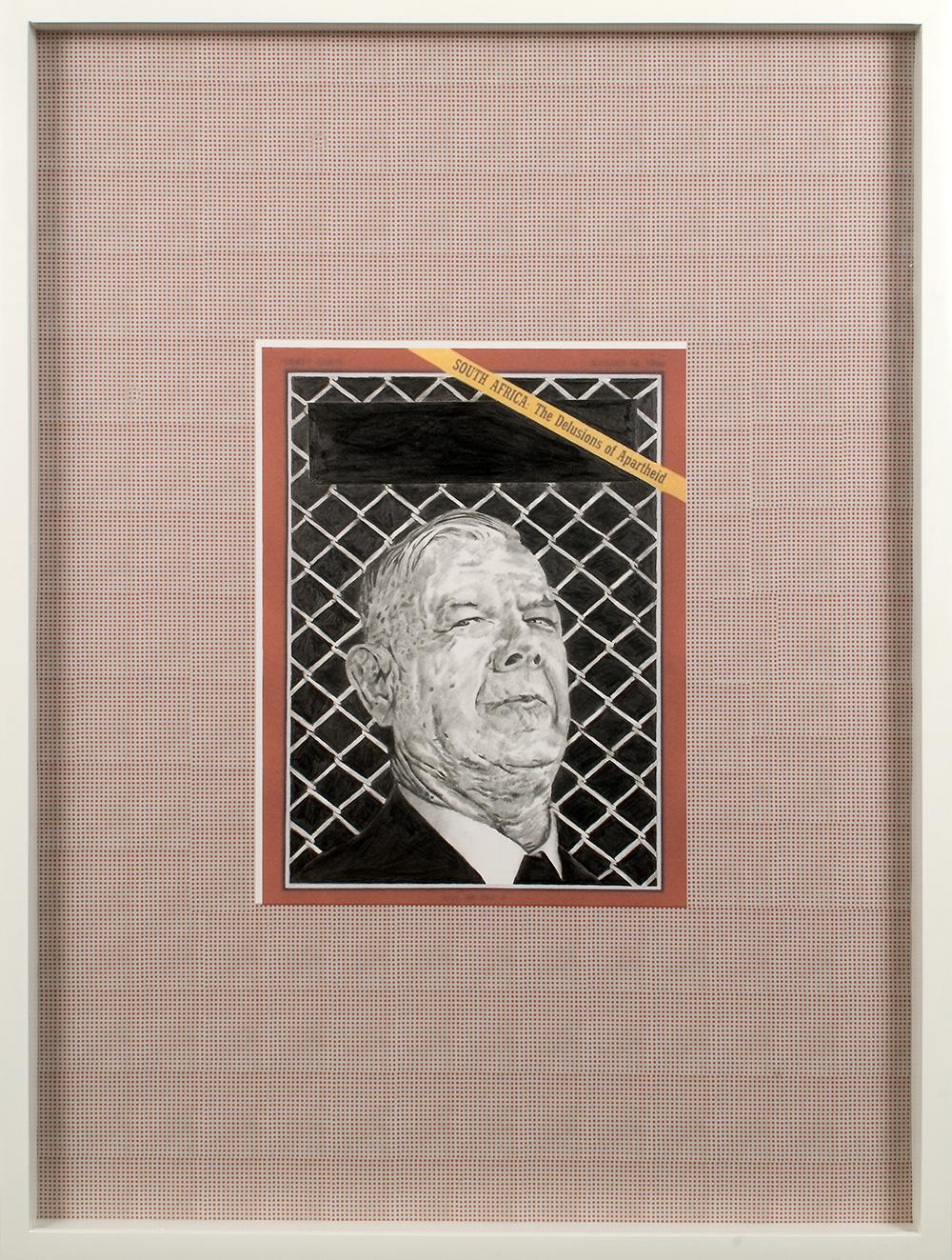 "no.30- Untitled (Hendrik Verwoerd) pencil on paper, ink jet print, 21""x28""/ 53cmx71cm,            2007/08"