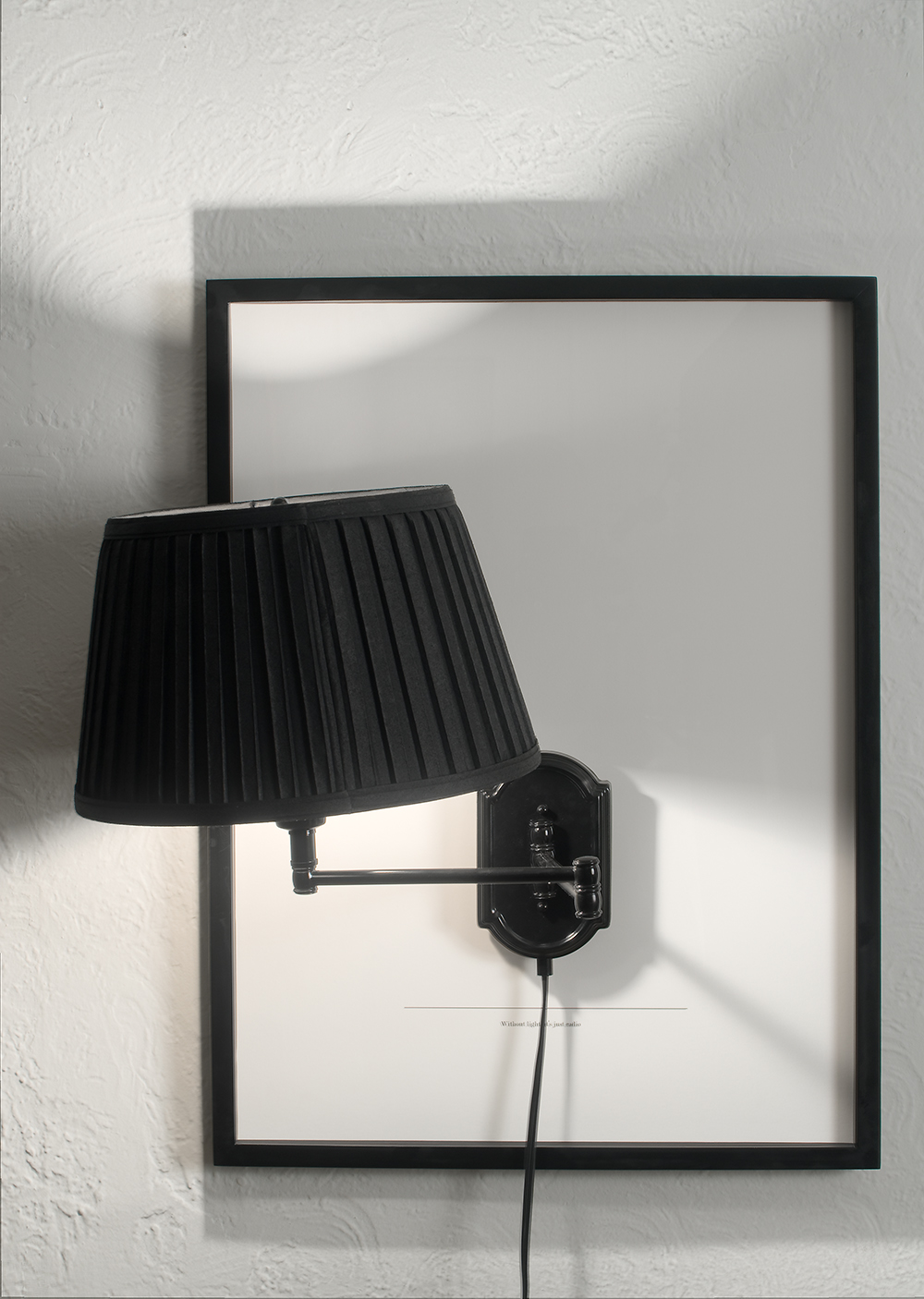 "no.36- Untitled (Without light, it's just radio) ink jet print, lamp, 21""x28""/ 53cmx71cm,             2007/08"