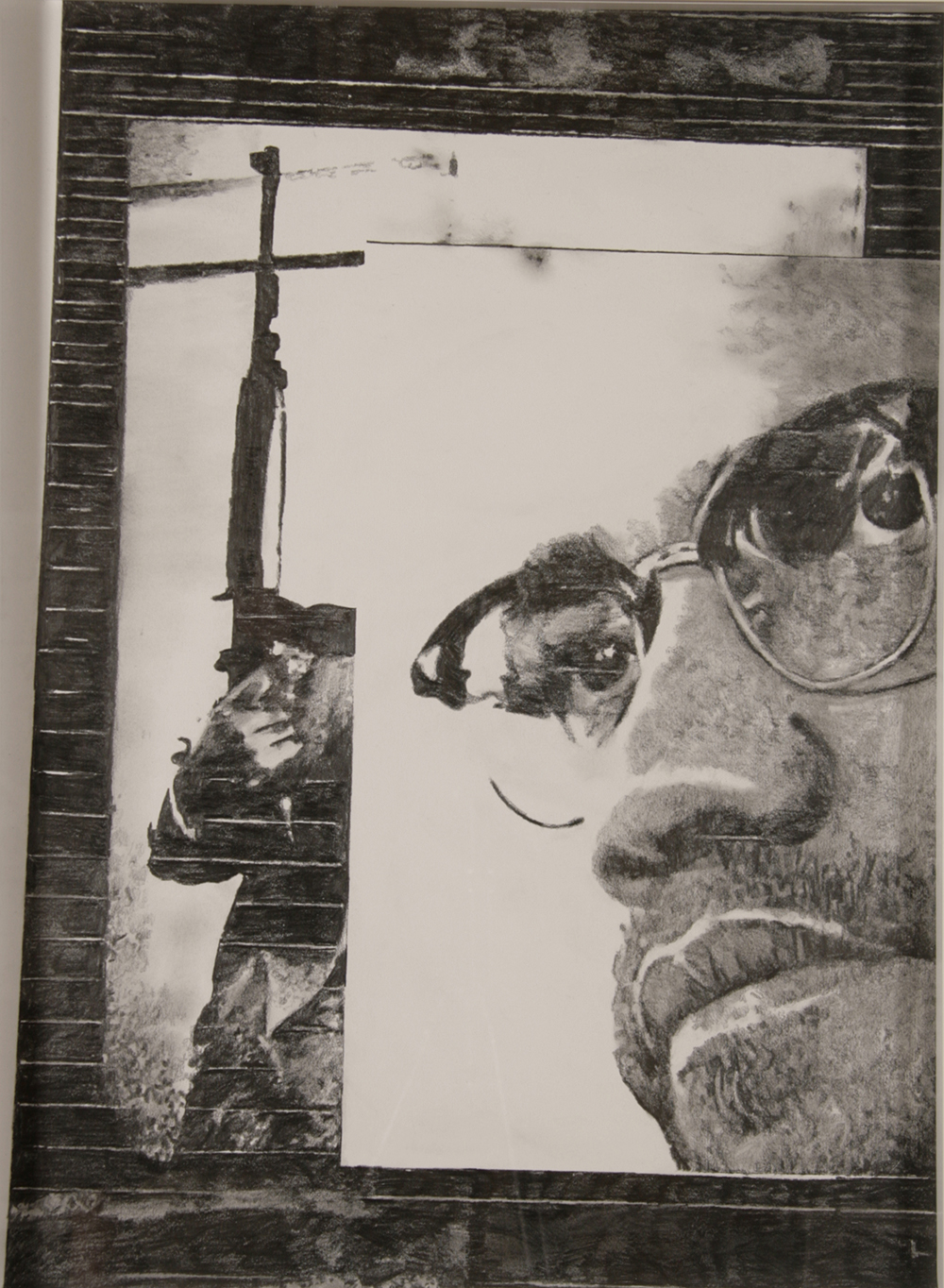 "no.40- Untitled (Malcolm X), pencil on paper, ink jet print, 21""x28""/ 53cmx71cm, 2008"